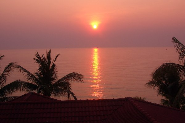 Dawn on the Gulf of Thailand at Dusit Thani Hua Hin