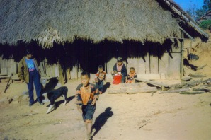 Akha Children in Village