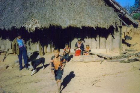 Akha Children in Village