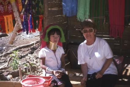 Padaung girl with Mari