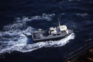 A Pilot Boat Approaches