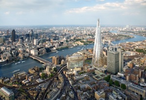 View Over London from The Shard, Highest Building in Western Europe