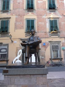 Puccini Statue in Piazza in Lucca (beside Museum)