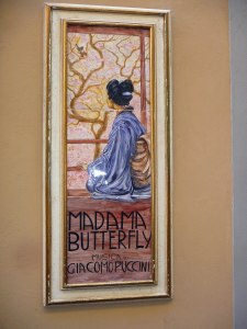 Madame Butterfly in Mosaic Tiles in Lucca