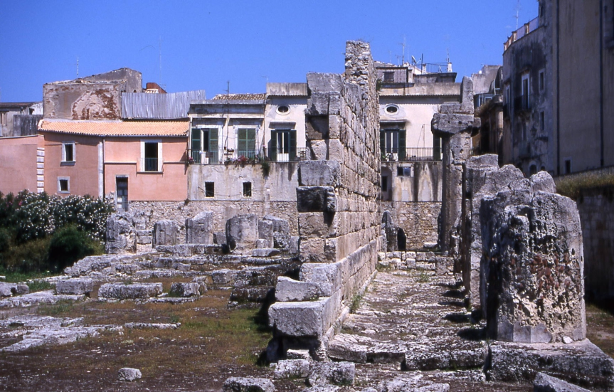 Temple to Apollo in Piazza Archimedes, Siracusa