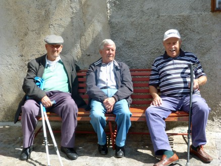 Sicilian Men in Village Square