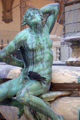 Section of Neptune's Fountain in Piazza della Signoria