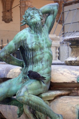 Section of Neptune's Fountain in Piazza della Signoria