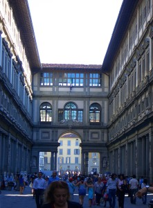 The Uffitzi Gallery in Florence