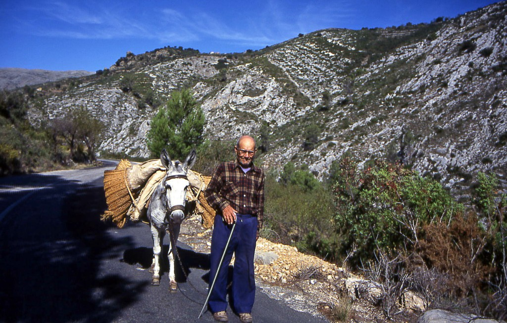 An old man on a road in Crete with whom I shared my lunch.