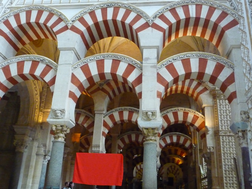 Magnificence of the Arches in the Mezquita in Cordoba