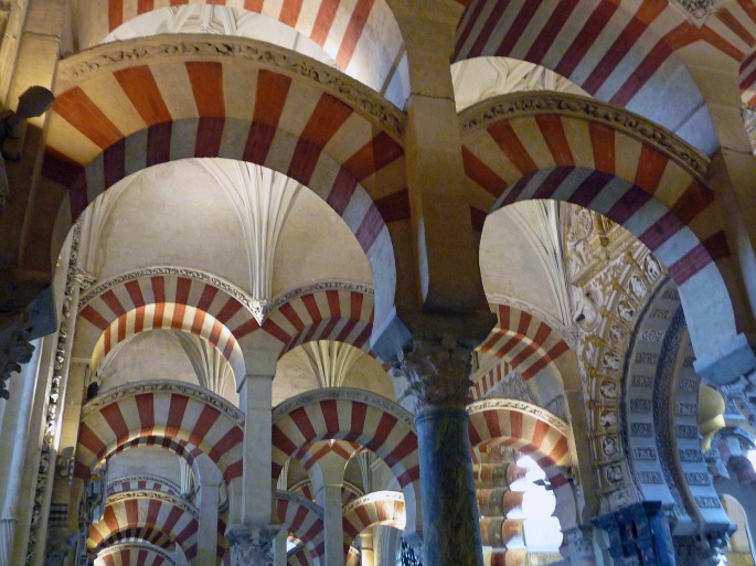 Arches of the Mezquita in Cordoba, Spain