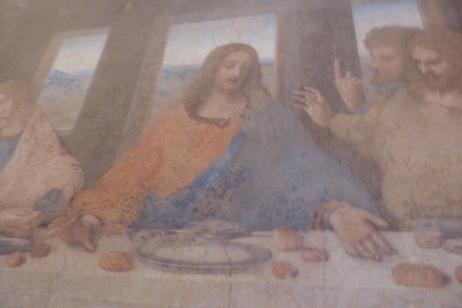Faint copy of Leonardo's Fresco -- The Last Supper