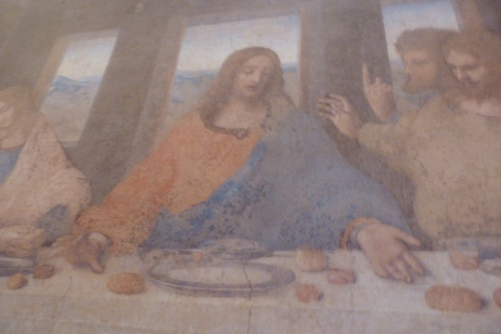 Faint copy of Leonardo's Fresco -- The Last Supper