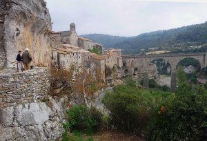 Minerve, well fortified and perched high on a cliff.