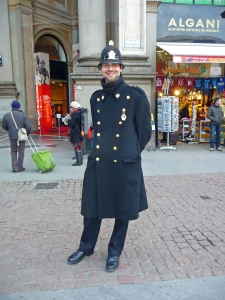 Welcome to Italy! The Smiling Policeman.
