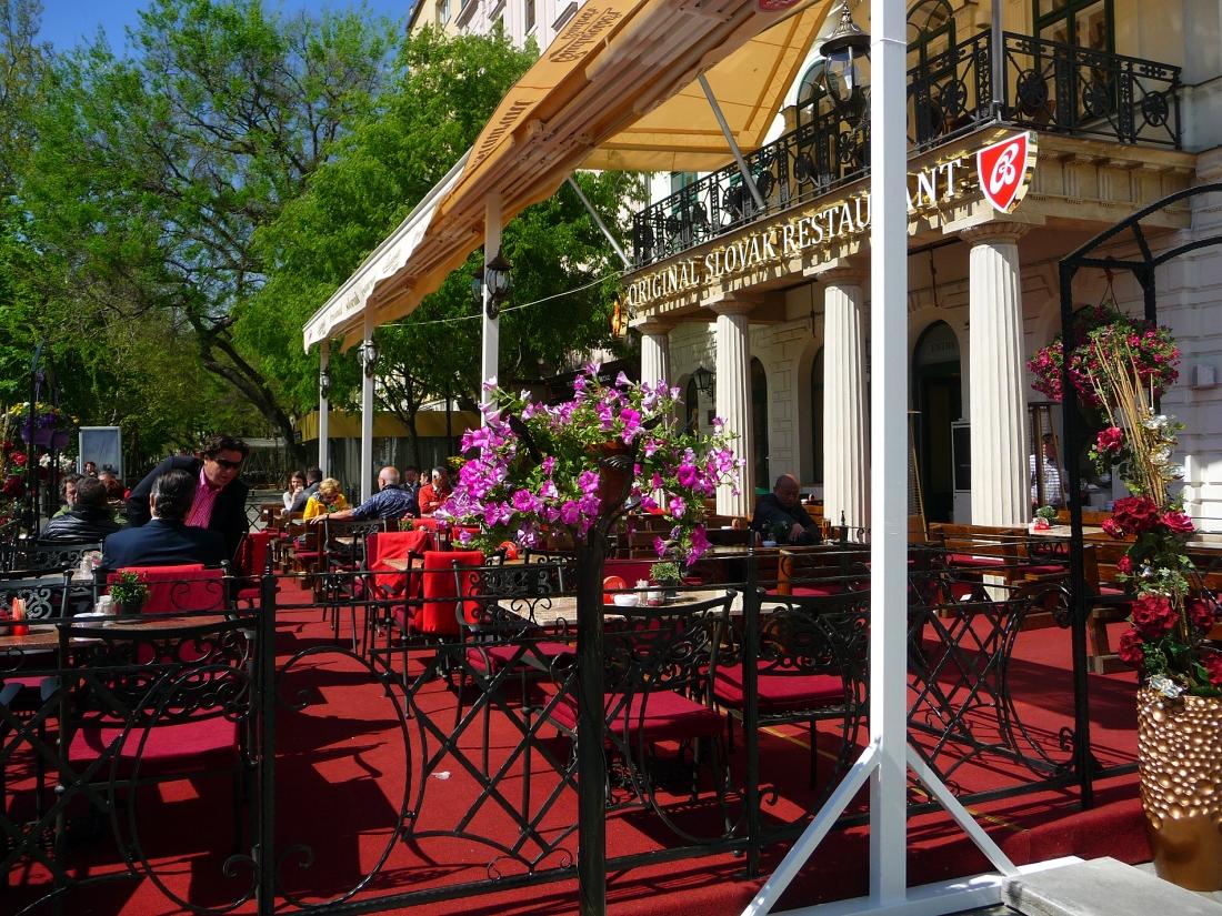 Cafe in centreville, Bratislave, Slovakia