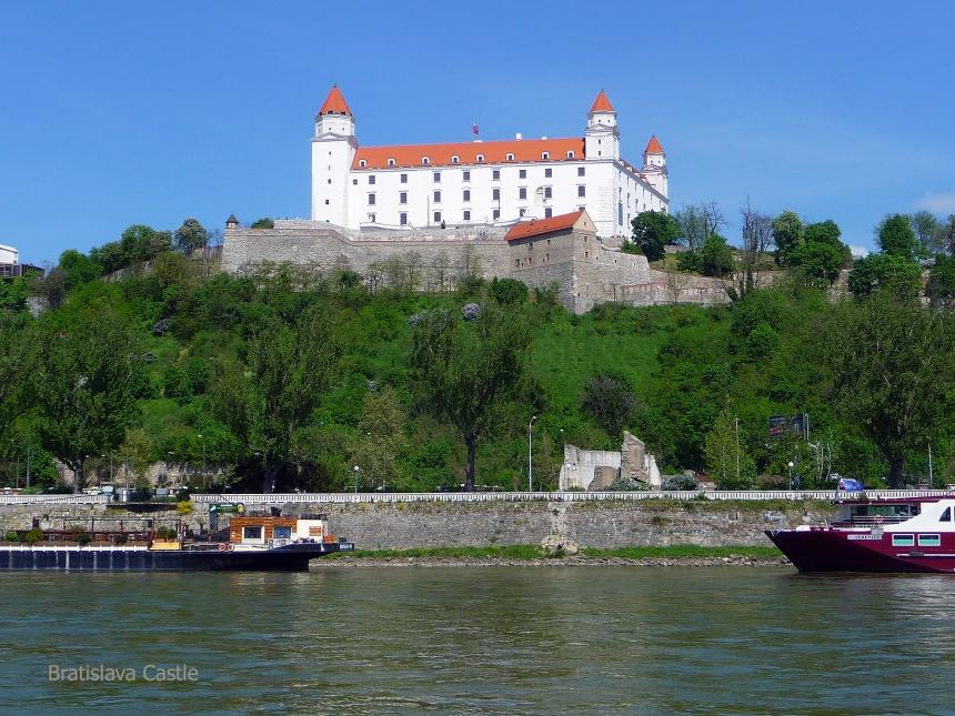 Bratislava Castle viewed from the Danube River