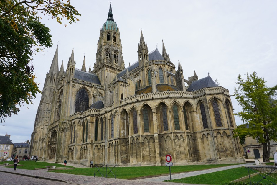 Bayeux, The Cathedral. Copyright Mari Nicholson