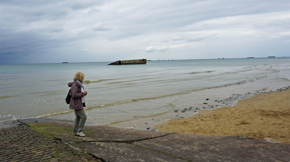 Mulberry Harbour on Arromanches Beach