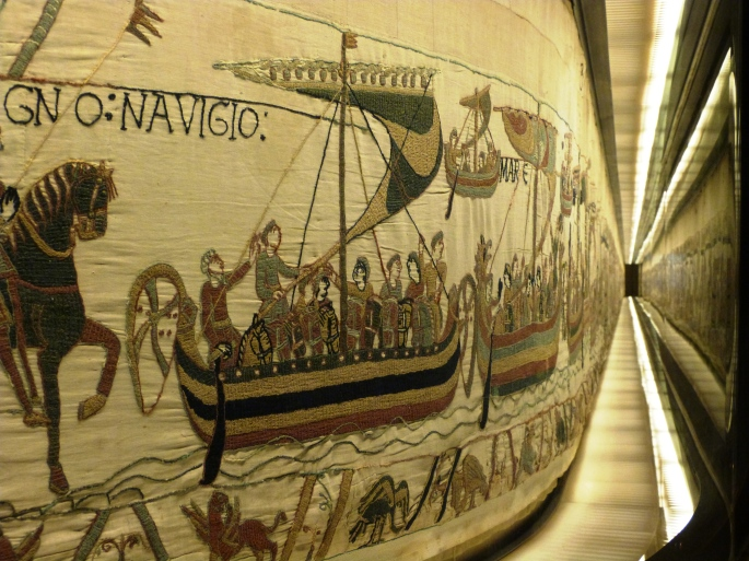 Section of the Bayeux Tapestry in Bayeux Image Copyright Ville de Bayeux