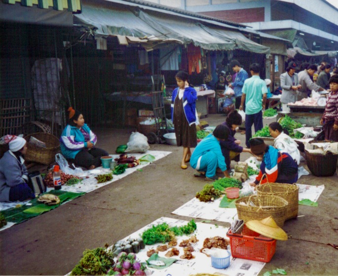 Street sceme Mae Sai (Border with Myanmar)