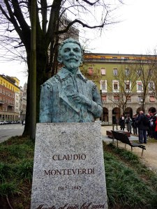 Statue of Claudio Monteverdi, in Cremona