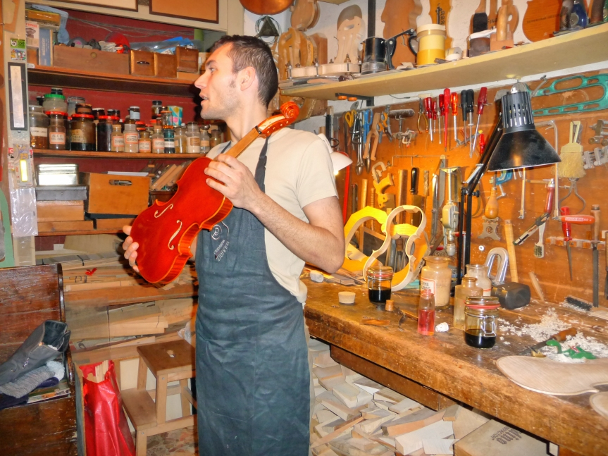 Stefano in his workshop
