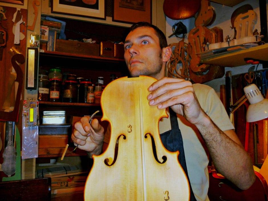 As yet unvarnished, violin making in Cremona