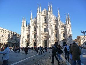 Just a short distance away  is Milan with its famous Cathedral