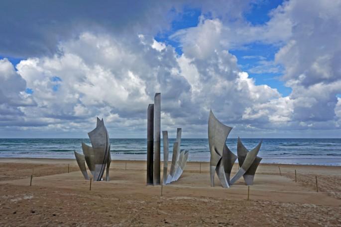 D-Day Landings.  War Memorial on Normandy Beaches