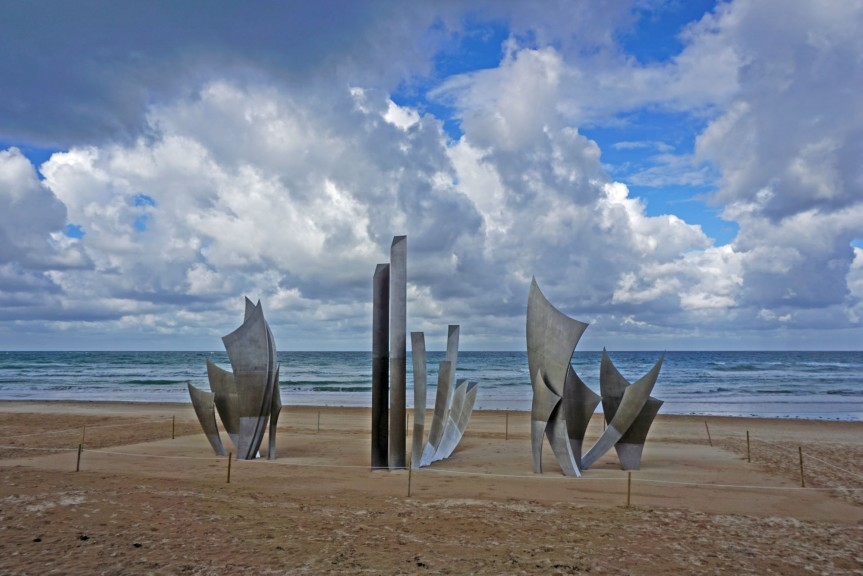 D-Day Landings.  War Memorial on Normandy Beaches