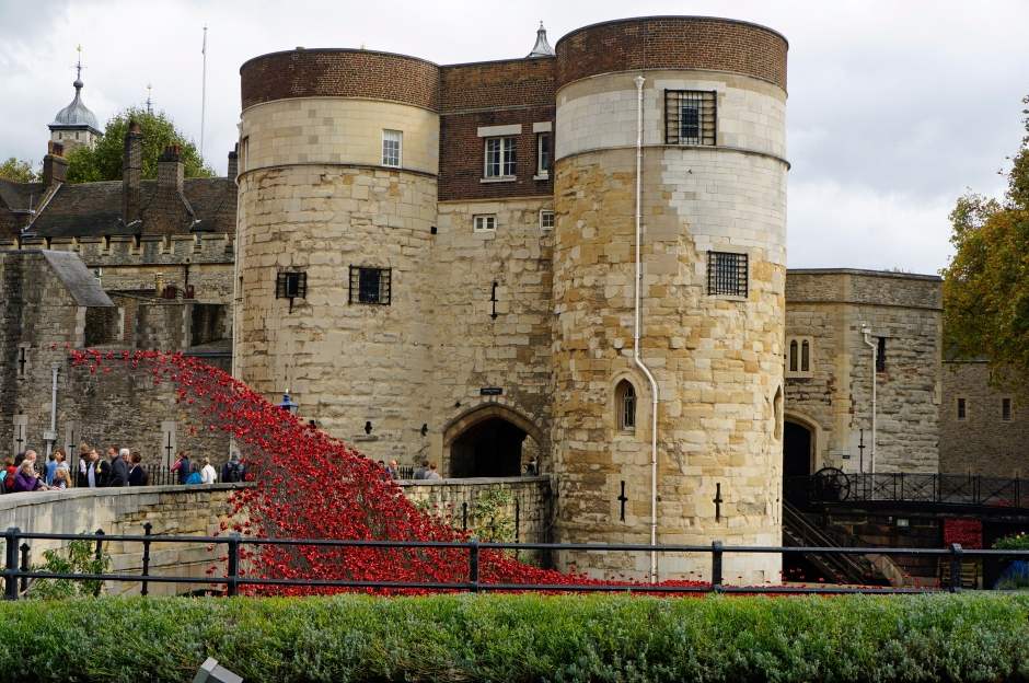 Tower with Shower of Poppies