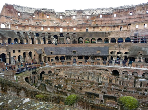 Interior of Colosseum showing 5 levels