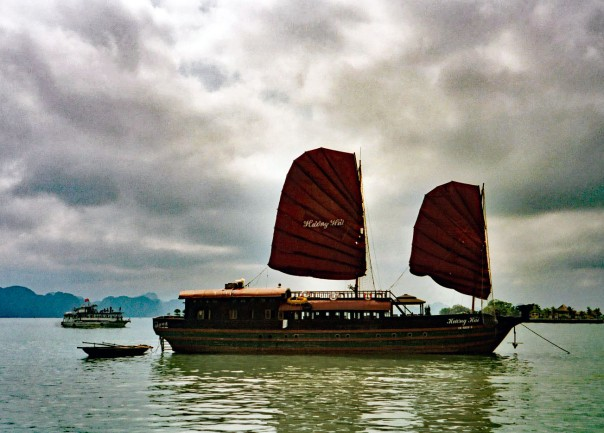 Junk in Halong Bay, Vietnam