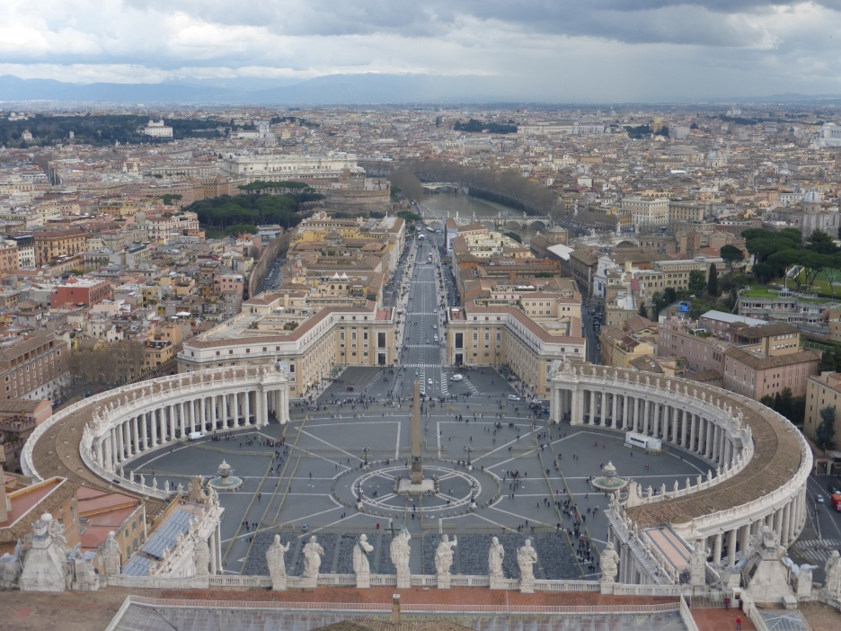 Looking down from St. Peter's, Vatican City.