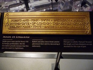 Plaque-on-gun-from-Mary-Rose