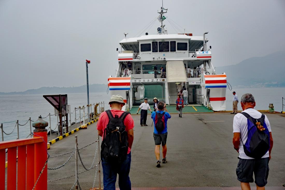 Ferry departing from Miyajima