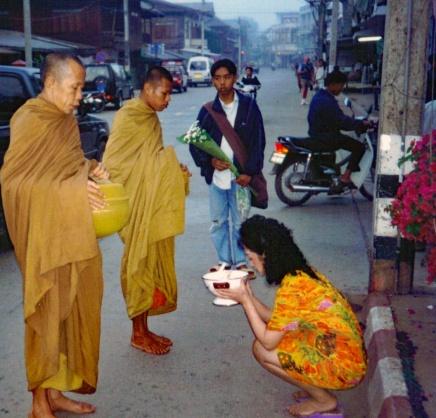 Making Merit at Dawn in Chiang Rai, Thailand - Mari Nicholson