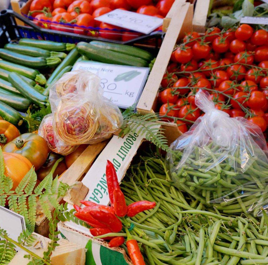 Prepared artichokes for sale in Rome market