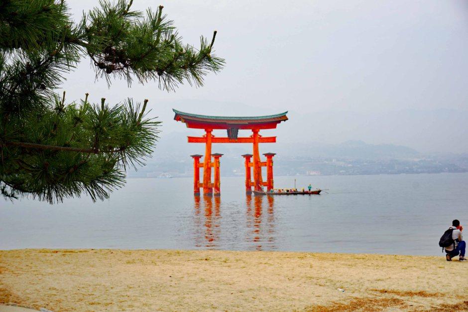 Red Torii Gate at Miyajima, near Hiroshima