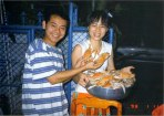 Young Hua Hin Couple with Crab Catch
