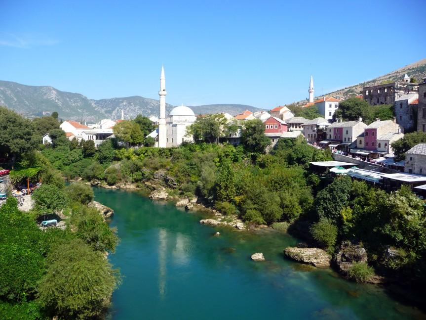 Cliff Diving at Mostar, BosniaHerzeGovina