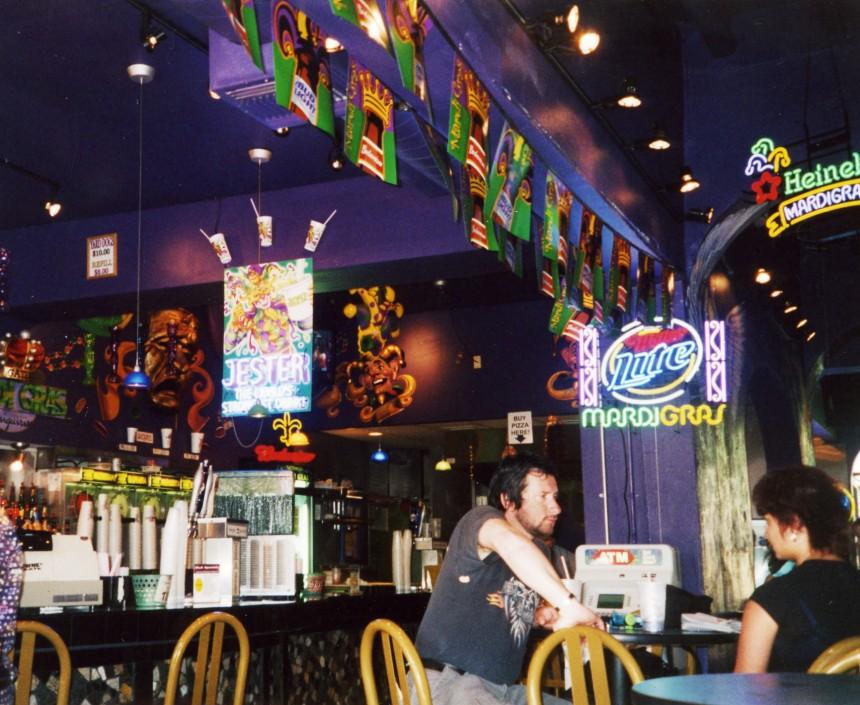 Inside a bar on Bourbon Street