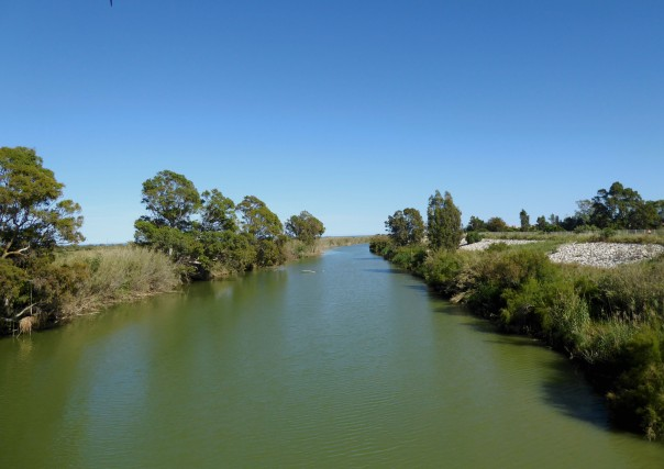 Silver Spain - river in Guadalahorce Natural Parque