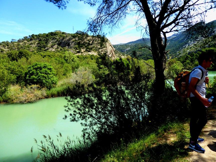 Walking in the Desfiladero de los Gaitanes Natural Park,Spain