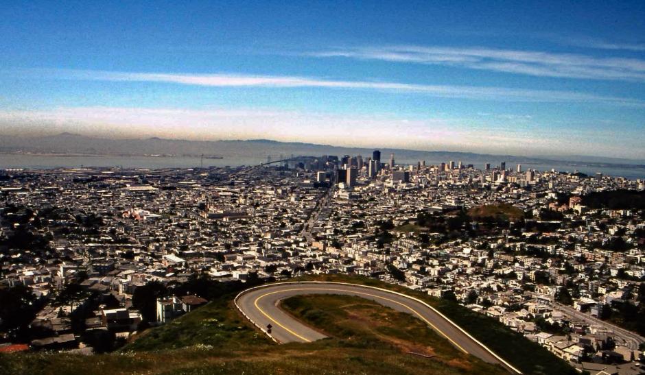 San Frans view with Golden Gate Bridge and Alcatraz