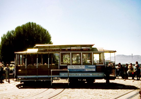 Trolley-Car-on-Turning-Point-(Bridge-in-Background)
