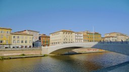 Pisa - River Arno with Bridge