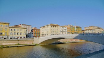 Pisa - River Arno with Bridge